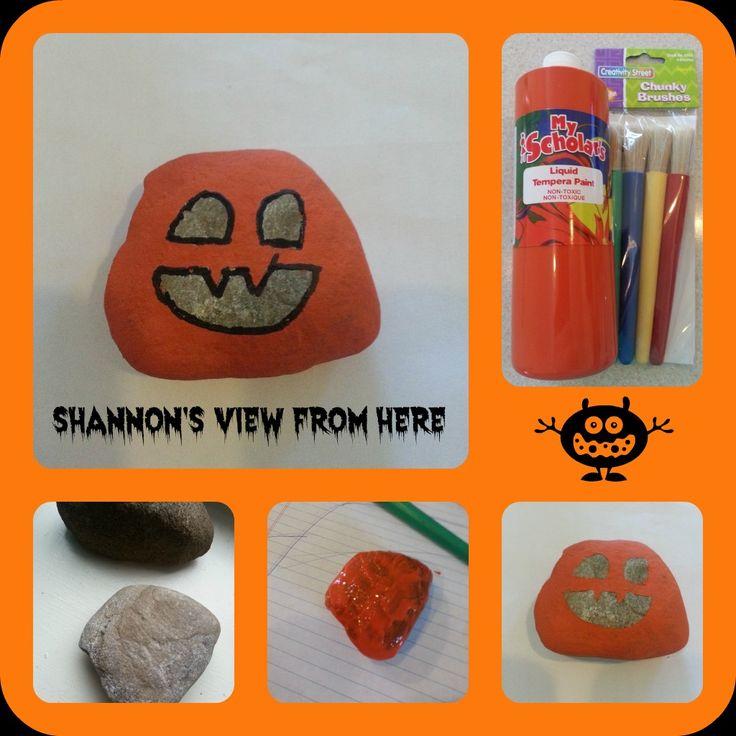 Jack O Lantern Pumpkin Rocks #EasyCraft!  #HolidayCraft