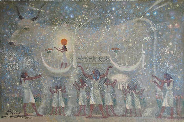 Egypt Painting - Celestial Cow by Valentina Kondrashova
