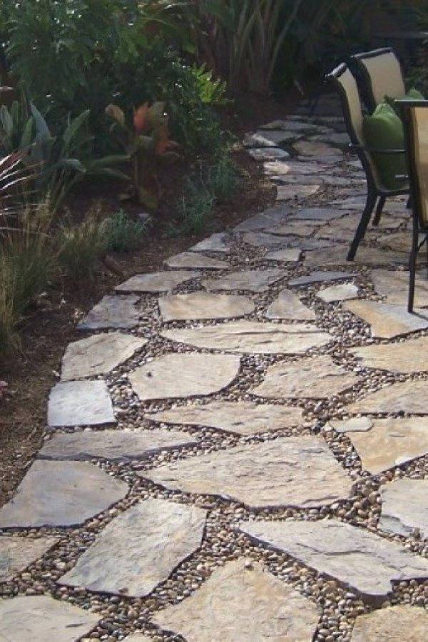 Stone Garden Walkway Ideas In 2019 Stone Patio Designs