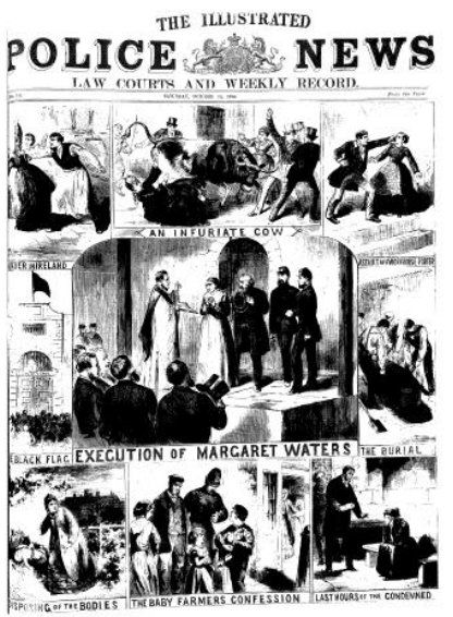 Victorian Police News | case dominates the cover of the Oct. 15, 1870 Illustrated Police News ...