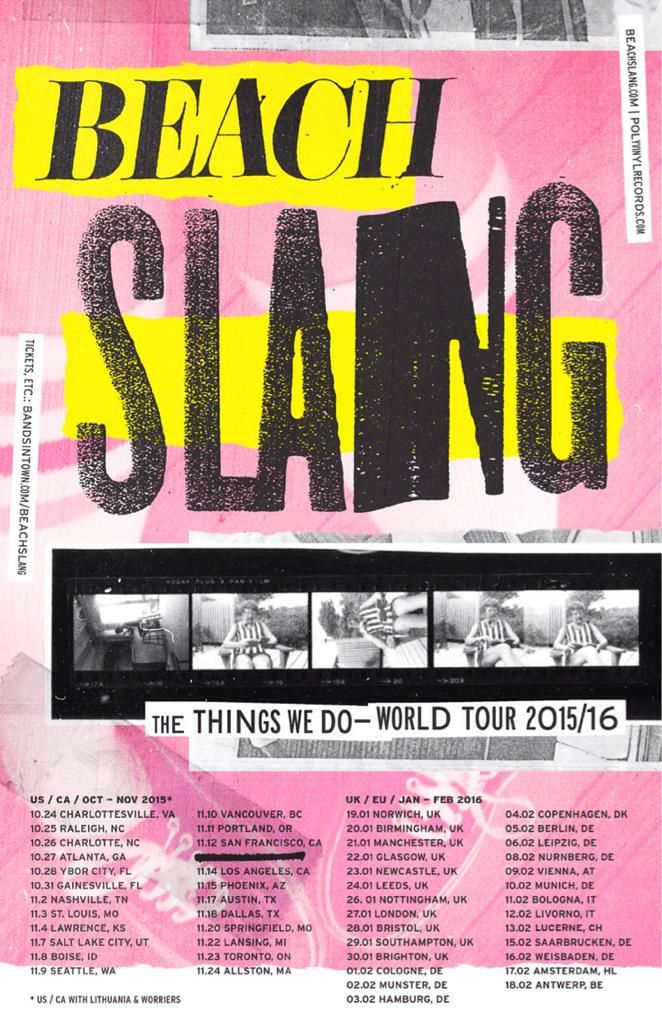 "BEACH SLANG. on Twitter: ""We are going to all these places. And, man, I hope some of them are right where you are <3  http://t.co/7LUn63Cs0N http://t.co/LZQn7QKSdA"""
