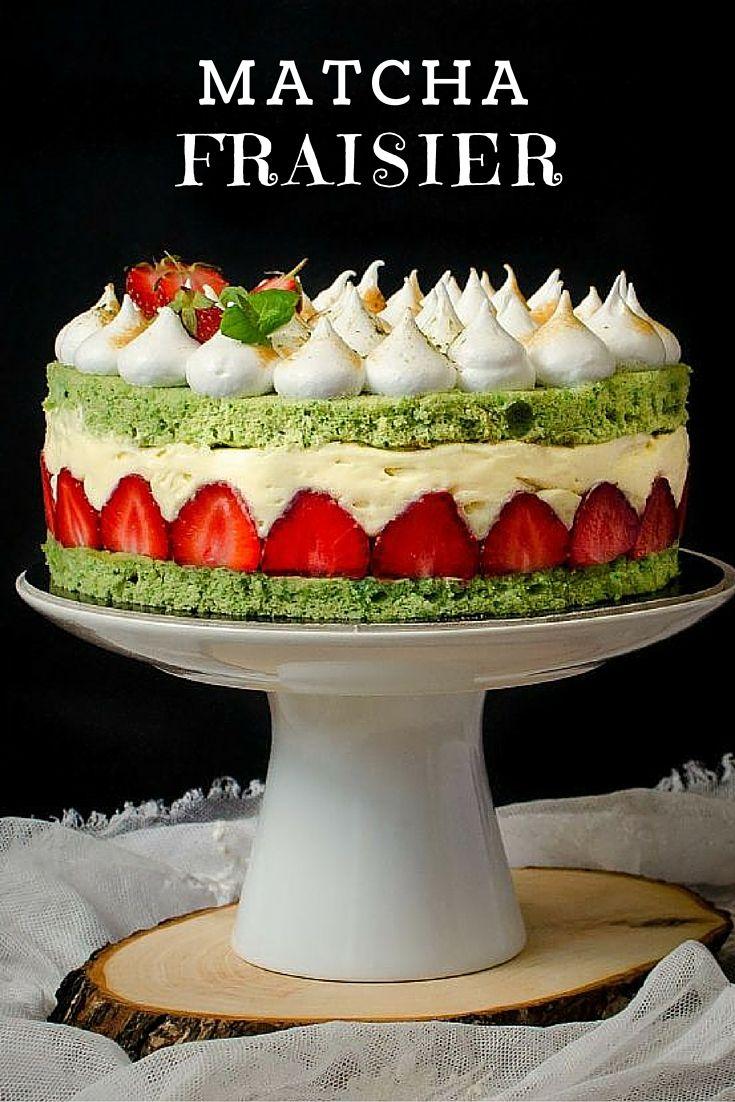 Matcha Fraisier www.pastry-workshop.com #desserts #pastryworkshop #cakes #pastrychef