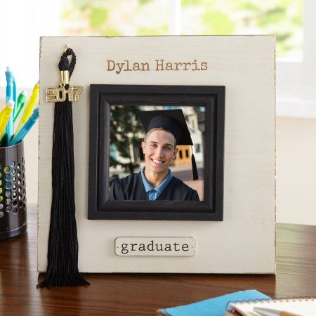 Personalized Treasured Memories Graduation Tassel Frame, Multicolor