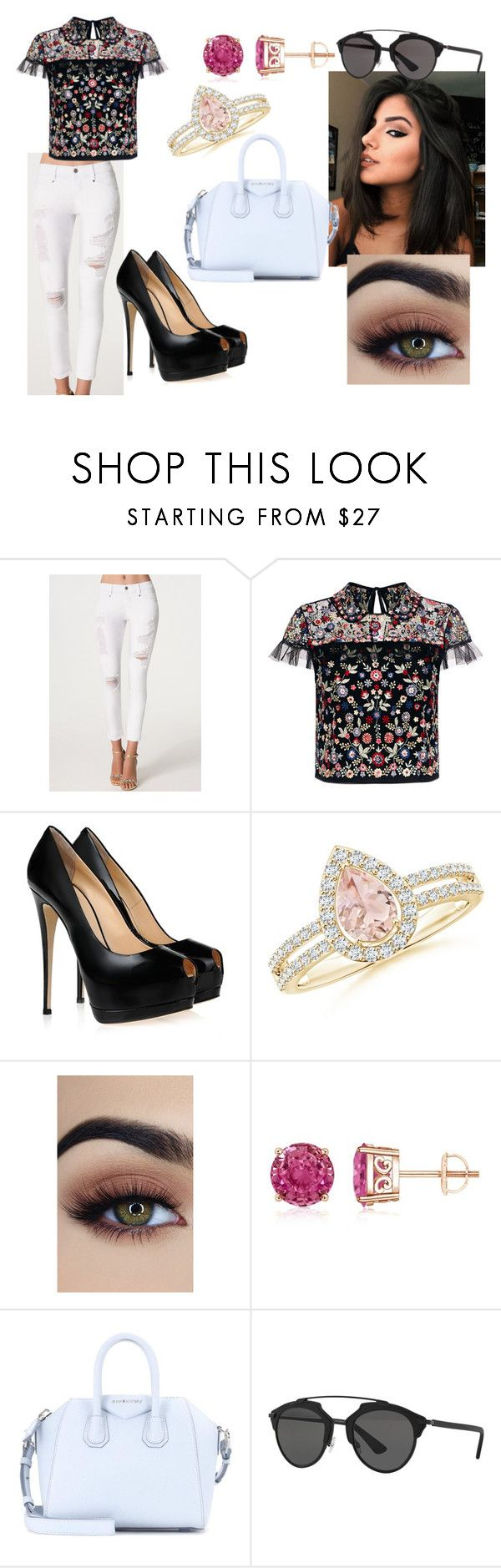 """""""Hannah"""" by mrstomlinson974 on Polyvore featuring Bebe, Needle & Thread, Giuseppe Zanotti, Givenchy and Christian Dior"""