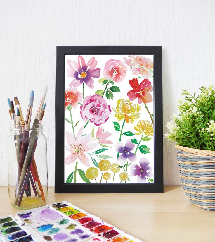 GARDEN DELIGHTS A4 watercolour floral art print available here 👉 https://www.etsy.com/listing/542901036/garden-delights-a4-watercolour-floral?utm_campaign=crowdfire&utm_content=crowdfire&utm_medium=social&utm_source=pinterest  #art  #design #watercolor #artistic #artists #artworks #artlover #watercolorpainting #watercolors #floralwatercolor #painting #art