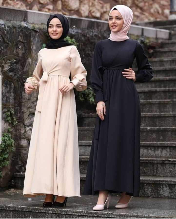 Eliza Moda Sik Tesettur Prenses Elbise Modelleri Moda Tesettur Giyim 2020 Siyah Elbise Elbise Elbise Modelleri