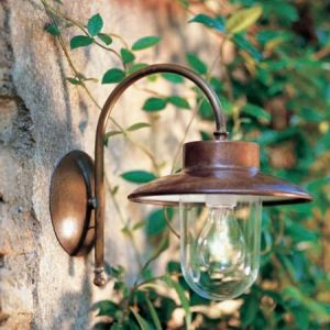 Part of a stunning range by Il Fanale the Italian Calmaggiore is a frame of pre aged brass, shade of aged copper and transparent or white glass.