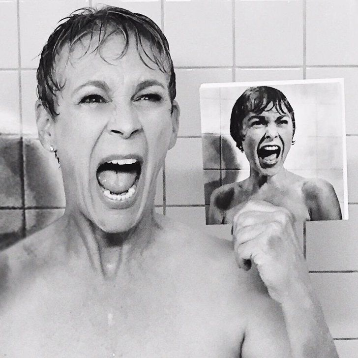 Jamie Lee Curtis Reenacted Her Mom's Famous Psycho Scene, and It's Priceless