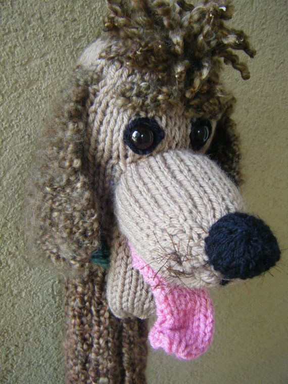 Hand knit Poodle head cover