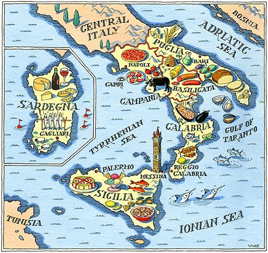 The foods of Southern Italy & Sicily (including pizza from Napoli, mmm...)
