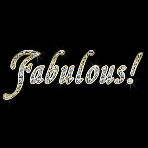 FABULOUS-Bling-Printed-T-Shirt-Tank-Men-039-s-Ladies-Black-White-Gay-Lesbian-Jewels