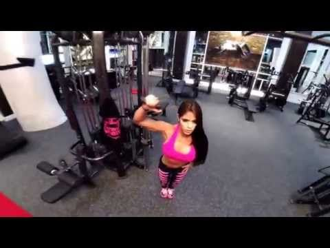 MICHELLE LEWIN Workout - Full shoulder workout - YouTube