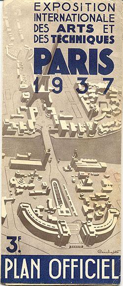 """Map - """"Exposition Internationale des Arts et des Techniques Paris 1937 - Plan Officiel."""""""