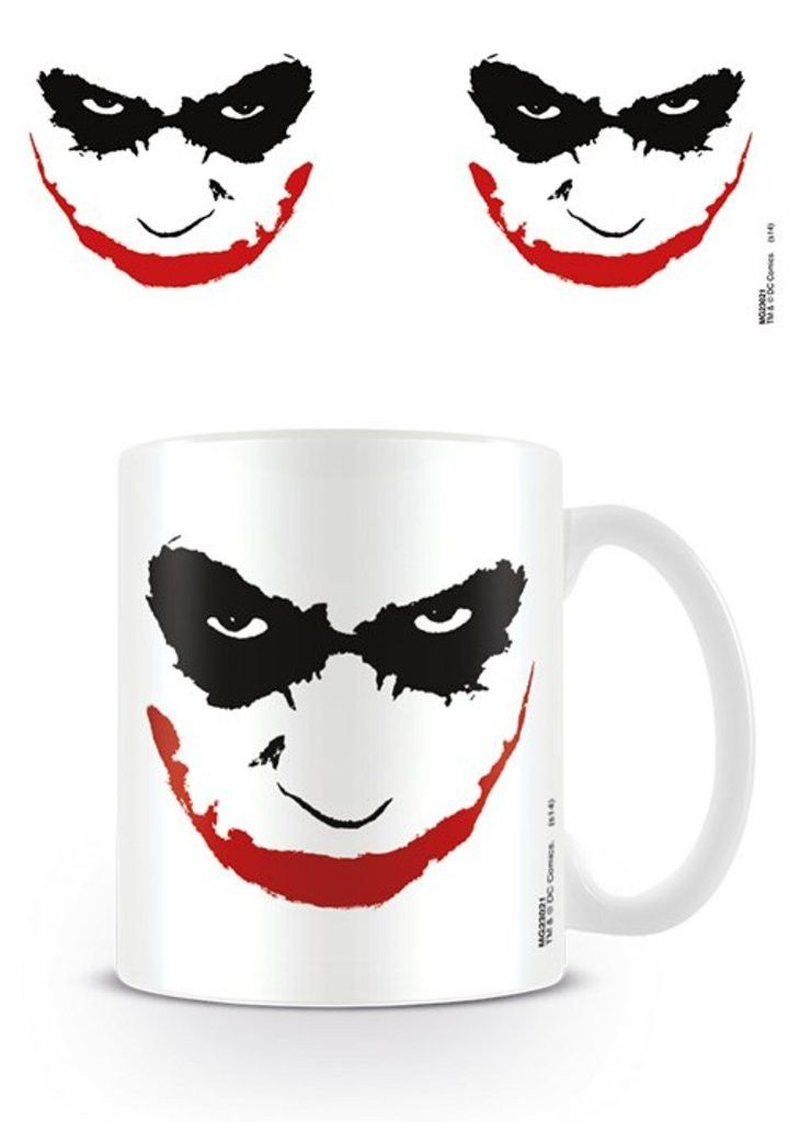Batman The Dark Knight - Joker Face - Ceramic Coffee Mug. Dishwasher and microwave safe. Capacity: ca 11oz. Official Merchandise. FREE SHIPPING