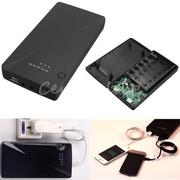 Дешевое Универасльный внешний аккумулятор на 5 В, 9 В, 12 Вx 18650 , с двумя USB портами, корпус зарядники для iPhone 5S 5, Samsung Note 3, Купить Качество Резервное питание непосредственно из китайских фирмах-поставщиках:                      Описание        :                                                 Особенности: