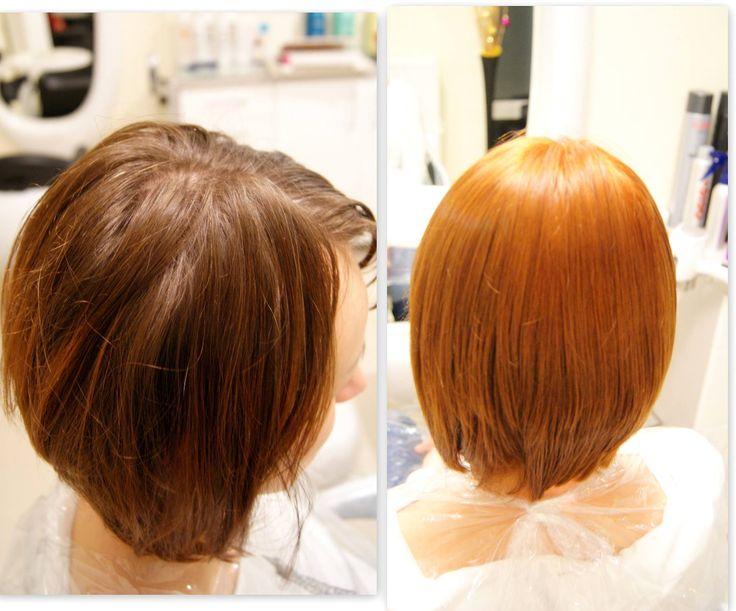 Dekoloryzacja i nowy kolor. #hairstyle #fryzury