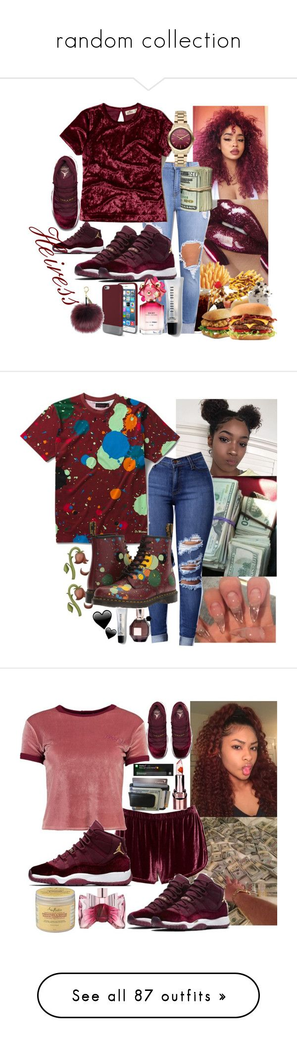 """random collection"" by bxbysnoop ❤ liked on Polyvore featuring NIKE, Original Penguin, Bobbi Brown Cosmetics, Hollister Co., Karl Lagerfeld, Marc Jacobs, Dr. Martens, Viktor & Rolf, Boohoo and adidas"