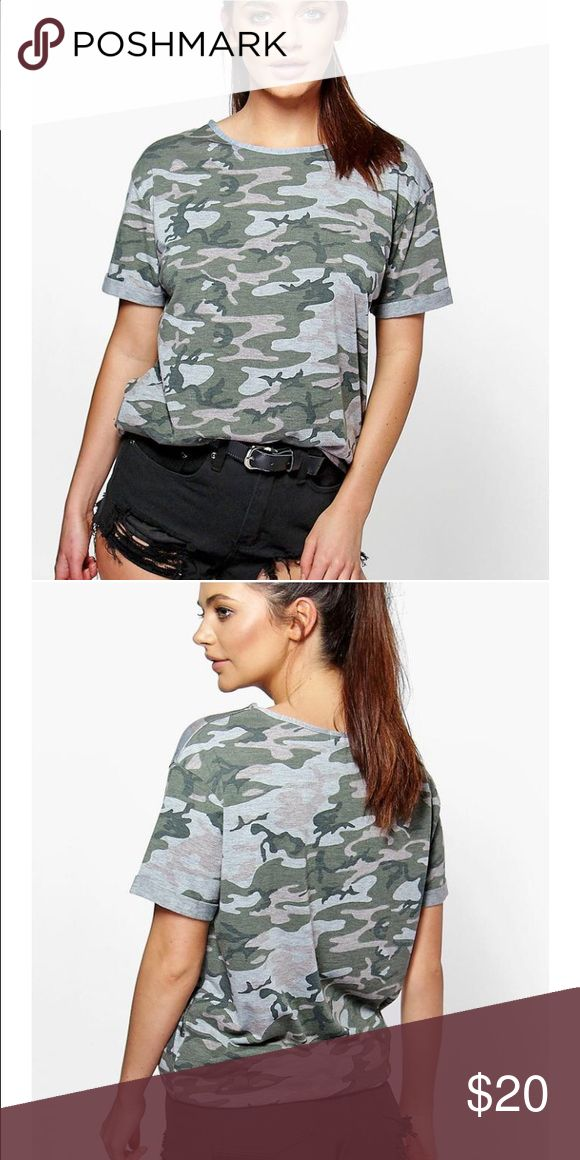 Short sleeve camo print t shirt Camo tee shirt, comfortable with a pair of ripped jeans or leggings! Available in size S, M, L & XL. Brand new without tags. Urban Outfitters Tops Tees - Short Sleeve