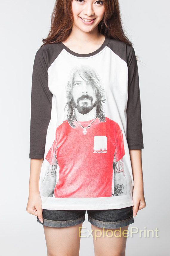 Dave Grohl Shirt Foo Fighters Rock Music Long by ExplodePrint, $17.99