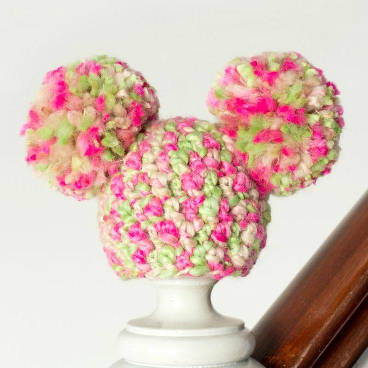 Newborn Fairy Floss Pom Hat Cute Baby Crochet