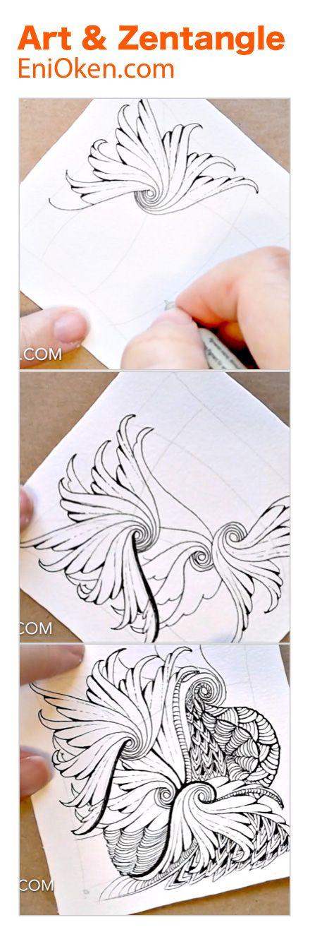 Learn how to create beautiful Zentangle®️ art • enioken.com