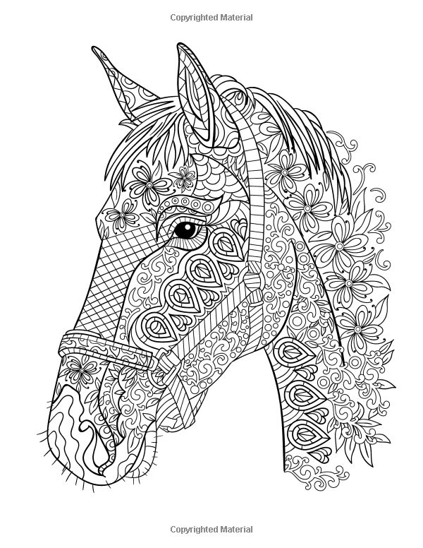 Horse Coloring Book: Coloring Stress Relief Patterns for Adult Relaxation - Best Horse Lover Gift: Gina Trowler