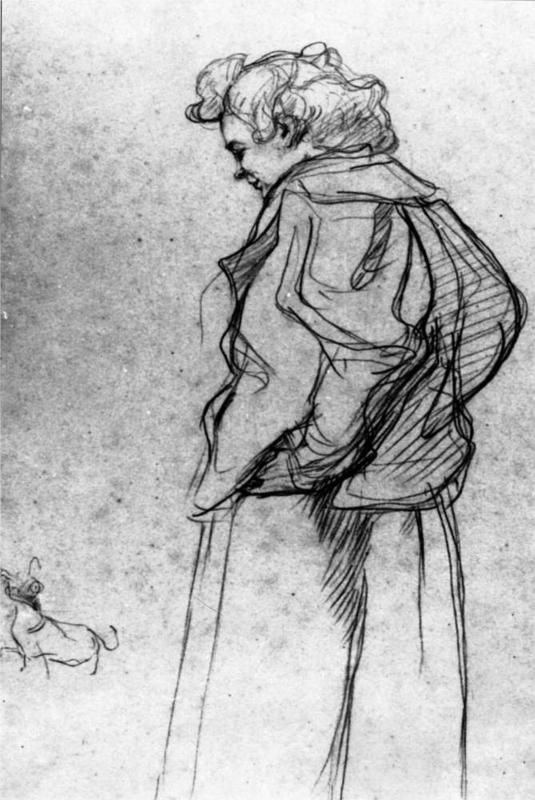 Henri de Toulouse-Lautrec - Madame Palmyre with Her Dog