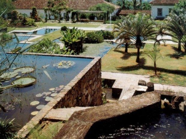 Jardim Fazenda Vargem Grande. Roberto Burle Marx. Estrada dos Tropeiros km 257, Serra da Bocaina, Areias, São Paulo, Brasil. Anos 1970.