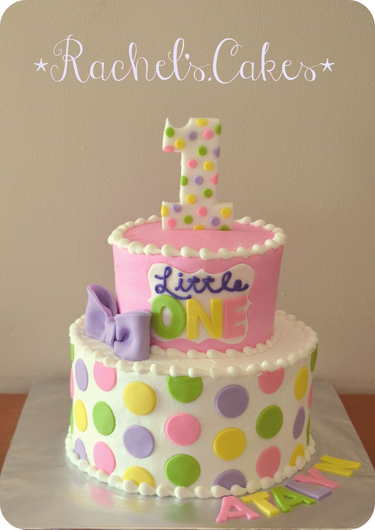 Polka Dot St Birthday Cake