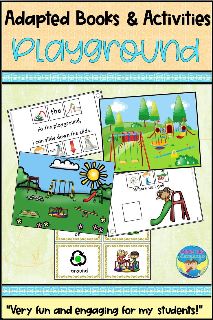 Build Spatial Concepts Literacy Skills And Sentence Structure All In One Fun Activity Packed Set Kids Love A Playground Activities Activities Adapted Books [ 1107 x 736 Pixel ]