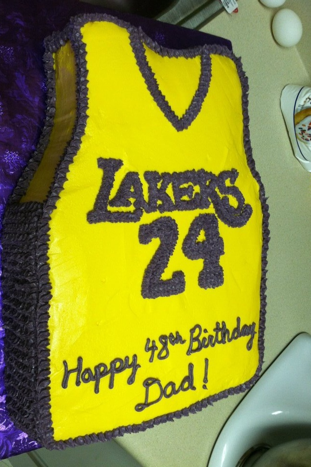 LA Laker's Jersey Cake! Birthday cake for him, Cake