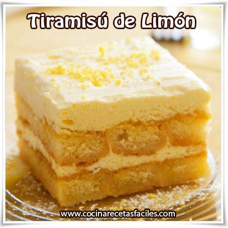 Postres y helados,  receta de tiramisú de limón, postres ricos