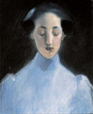 Helene Schjerfbeck (1862-1946),1907 . Imagine the life of Frida Kahlo yoked to the eye of Edvard Munch, and you'll begin to get the measure of this oeuvre … The Independent on Helene Schjerfbeck, London, October 2003