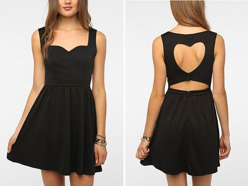 Heart Cutout Back Dress, $49