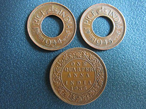Collection House British India 3 Coins-Hole Coin & Quarter