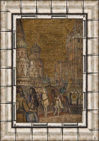 Мозаика «Минин и Пожарский». 1951. Смальта, мрамор, мозаика