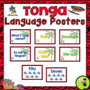 Brighten up your classroom while introducing your students to the Tongan Language with these Tonga Greetings, Introductions, Farewells and Counting Classroom Display Posters. This would be perfect to use during Tongan Language Week - Uike 'o e Lea Tonga - 3 September. #Tonga #Reading #PacificIslands