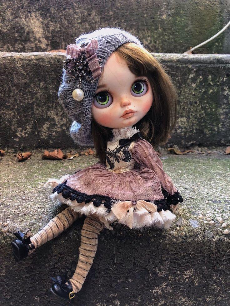 Saaale-Gloria-ooak custom blythe doll by me-weft mohair