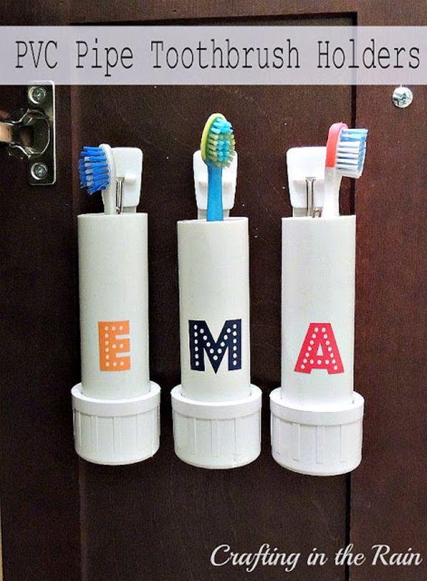 titulares escova de dentes pvc-pipe-