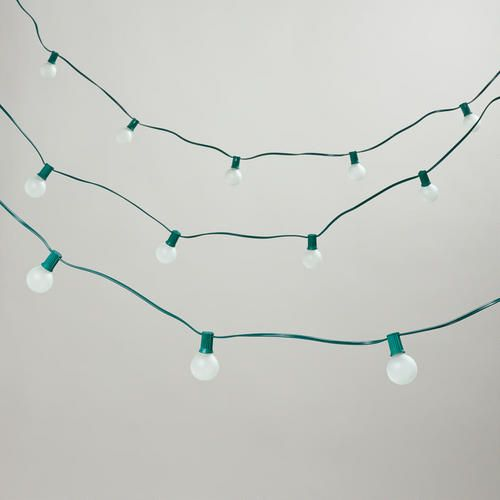 One of my favorite discoveries at WorldMarket.com: Frosted Bulb String Lights