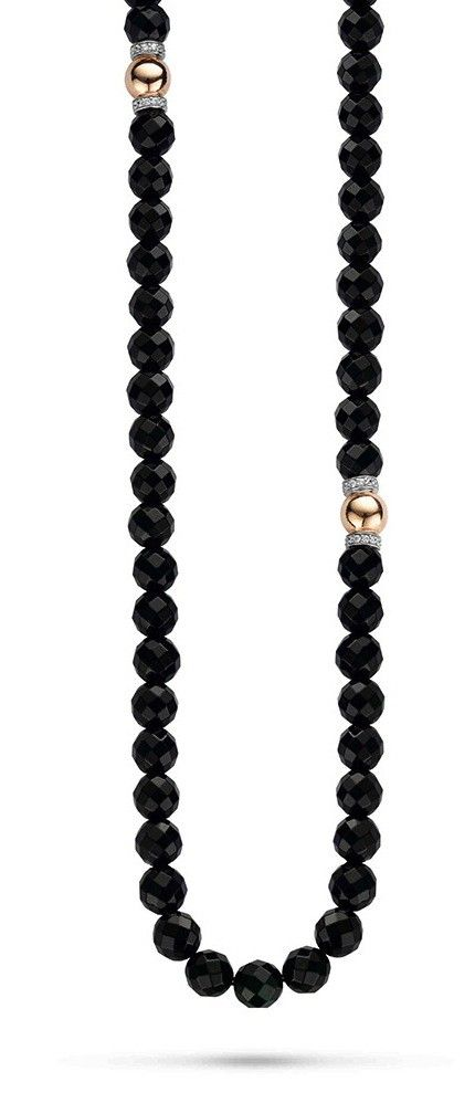 Ti Sento Sterling Silver Onyx Rose Gold Gilded Necklace 80cm @ Campbell Jewellers Donnybrook & Citywest http://campbelljewellers.com/jewellery/ti-sento-campbell-jewellers/ti-sento-pendants-chains/ti-sento-pendants/ti-sento-sterling-silver-onyx-rose-gold-gilded-necklace-80cm.html