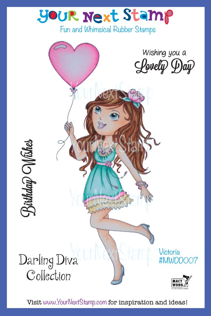Victoria - Darling Diva (cling set) [MWDD007] - USD12.00 : Your Next Stamp