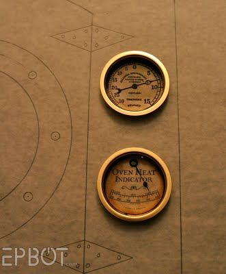 DIY Steampunk GaugesSteampunk Gauges, Steampunk Props, Diy Gauges, Steampunk Diy, Steampunk Stuff, Diy Steampunk, Pretty Darning, Steam Punk, Steampunk Ideas