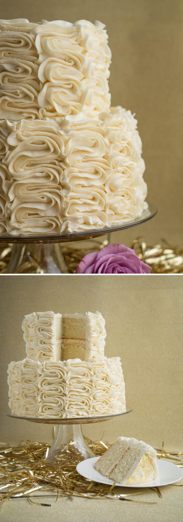 Delicious Champagne Cake with Vanilla Frosting | this heart of mine