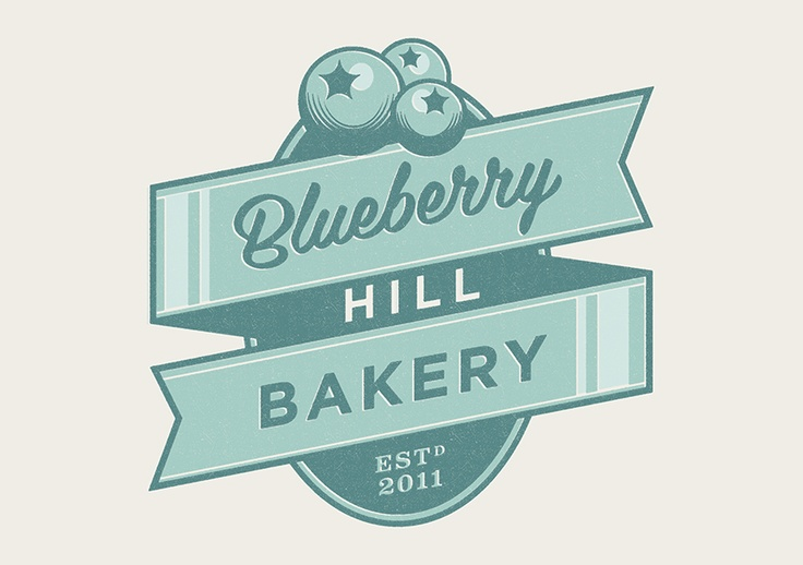 Forrst | Original image for Blueberry Hill Bakery logo v2 - A snap from aaronrudd