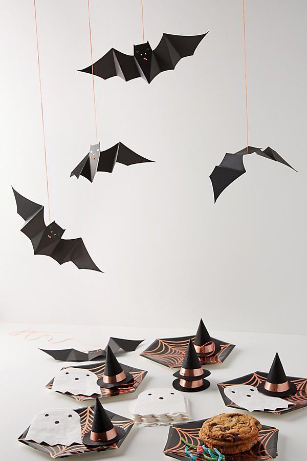 Slide View: 2: Hanging Paper Bats Set