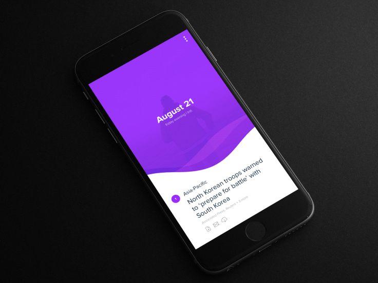 Yahoo News Digest - Redesign by Apostol Voicu