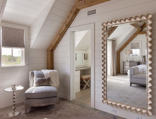Nantucket Shingle Cottage With Modern Coastal Interiors. Contemporary  CottageModern CoastalMater BedroomMirror ...