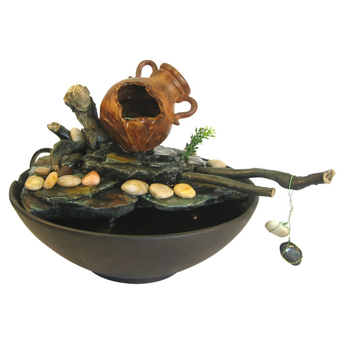 Eternity Bucket and Stick Tabletop Fountain