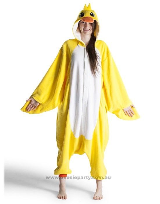 Adult Onesie - Duck - Kigurumi Costume - Free Delivery